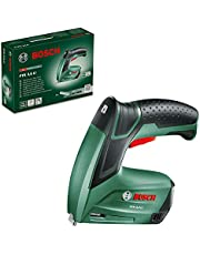 Bosch Home and Garden 0603968270 Bosch Cordless Tacker PTK 3,6 LI (Integrated Rechargeable Battery, 3.6V, 30 impacts/min, in Cardboard Box)