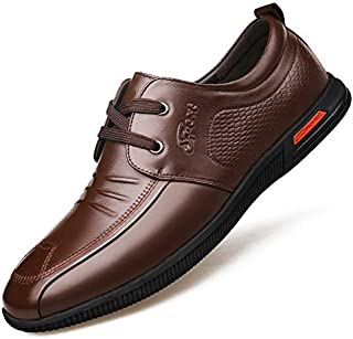 LOVDRAM Chaussures pour Hommes Automne Nouveaux Chaussures en Cuir pour Hommes PU Mode Casual Chaussures Mode Respirant Chaussures pour Homme LOVDM