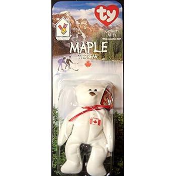 Amazon.com  Maple Canadian Bear - McDonald s Ty Teenie Beanie MIP ... ec20c1a65f28