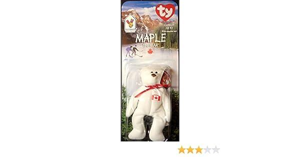 Amazon.com  Maple Canadian Bear - McDonald s Ty Teenie Beanie MIP - 1999   Toys   Games 9836f32cea5