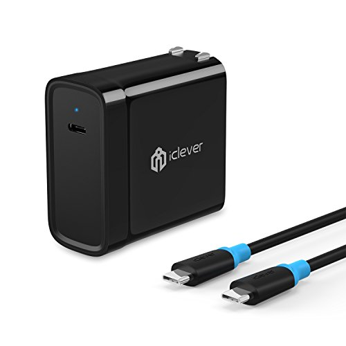 iClever USB C Wall Charger with a 6.6ft USB C Cable, 45W Pow