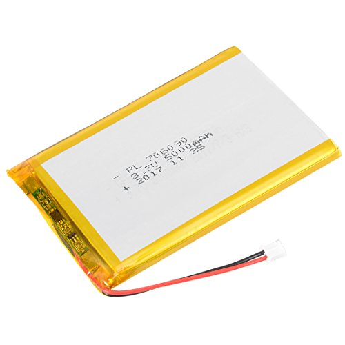 - uxcell Power Supply DC 3.7V 5000mAh 706090 Li-ion Rechargeable Lithium Polymer Li-Po Battery
