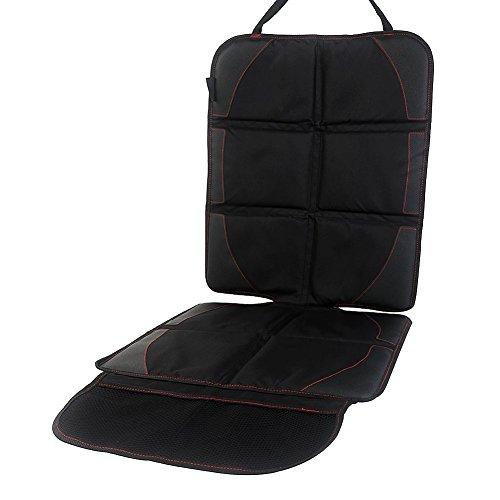 Autositz-Schoner mit Organizer-Taschen - Kindersitz-Unterlage ISOFIX geeignet - Autositzpolster-Auflage rutschfest und wasserabweisend
