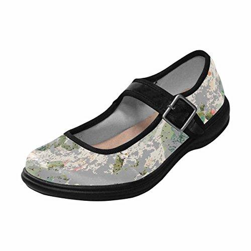Interestprint Womens Comfort Mary Jane Flats Casual Walking Shoes Multi 12