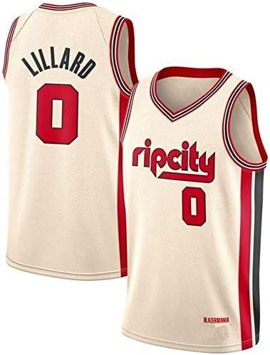NBA Basketball Jersey Portland Trail Blazers 0# Damian Lillard Breathable Sleeveless Sports Gym Vest Fitness T-Shirts Fans Basketball Top (Color : S:170cm/50~65kg)