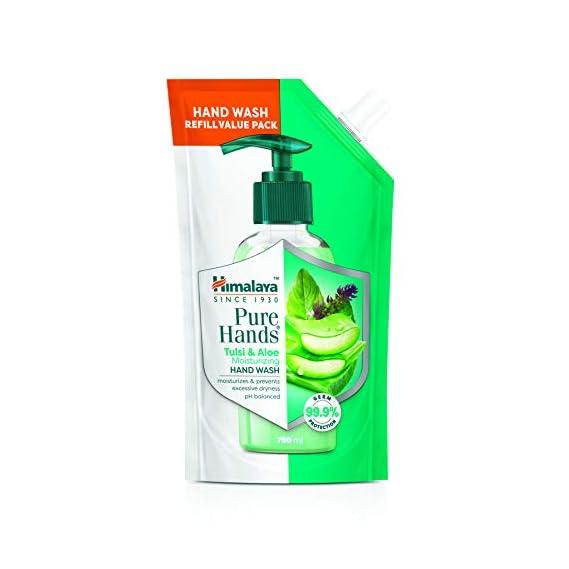Himalaya Pure Hands | Moisturizing Tulsi and Aloe Hand Wash Refill - 750 ml