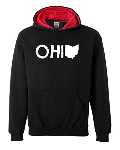Ugo Ohio Map OH Ohio Cincinnati Map Bearcats Buckeyes Home of Ohio State Contrast Color Unisex Hoodie