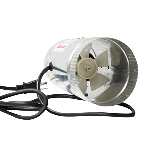 4 Inch Inline Fan : Ipower glfanxbooster inline ducting booster fan with cord