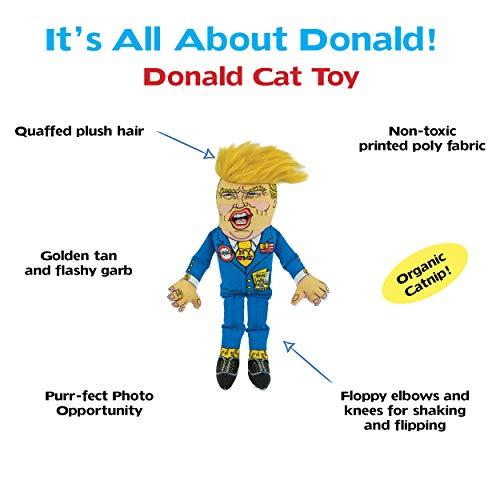 "FUZZU Collusion Duo (Donald Trump and Vladimir Putin) Presidential Parody Cat Toy with Organic Catnip - Cat (8"") 5"