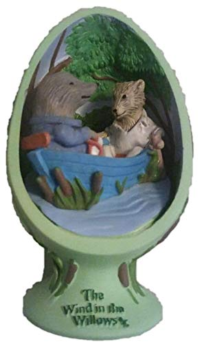The Wind in the Willows Egg Figurine On The River with Mole and Rat