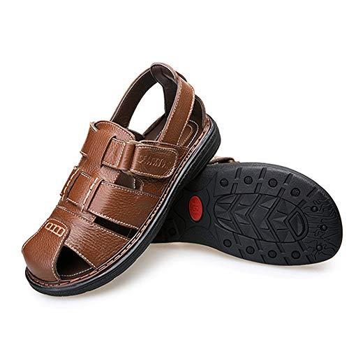Outdoor Da spiaggia Collision Sandali In pantofole Pelle 23 Scarpe Casual Wagsiyi Uomo da Marrone 0 Scarpe 27 Scarpe Sandali 5 CM Traspiranti qwvSfRIWXW