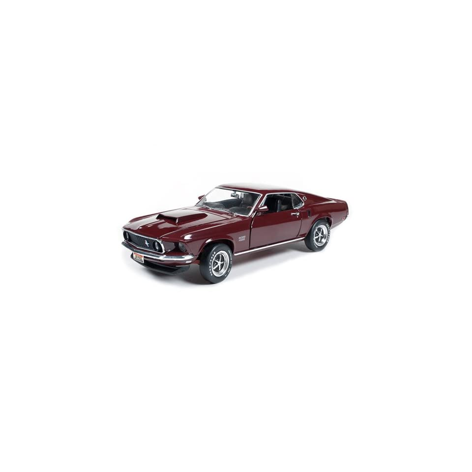 1969 FORD MUSTANG BOSS 429 FASTBACK ROYAL MAROON 1/18 BY AUTOWORLD AMM1006