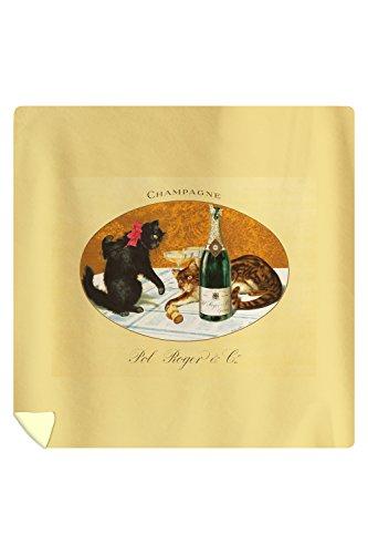 champagne-pol-roger-vintage-poster-c-1921-88x88-queen-microfiber-duvet-cover