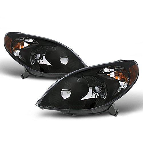 Toyota Matrix JDM Black Bezel OE Replacement Headlights Driver/Passenger Amber Head Lamps Pair Toyota Matrix Headlight Headlight