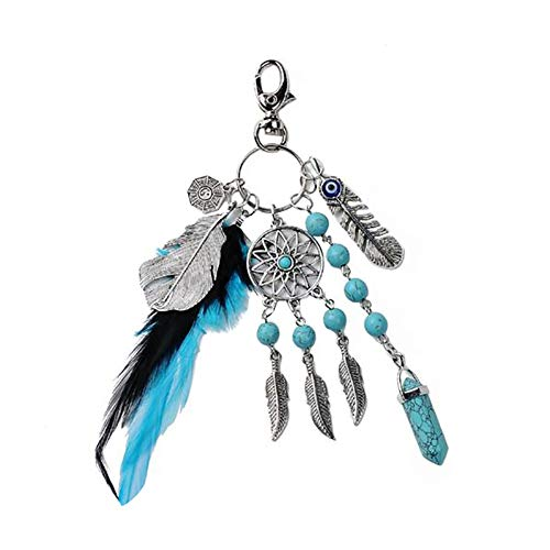 Chi regalo Incantevole Boho chiave Blue Charm turchese Catcher Tai VelvxKl donne Eye Black portachiavi catena Evil Dream q8HxAw6d
