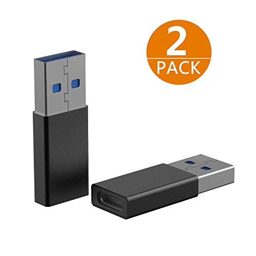 USB C to USB Male Adapter?2 Pack)? Best Tek USB C Femal to USB 3.0 A Male Adapter Support Charging and Data Sync Works With Laptop, Power bank, Chargers and Phones, laptops