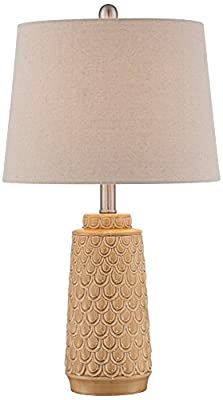 Marlin Light Yellow Scale Ceramic Table Lamp