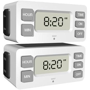 Stanley 38425 TimerMax Digislim Polarized 1-Outlet Digital Bar Timer, 2-Pack