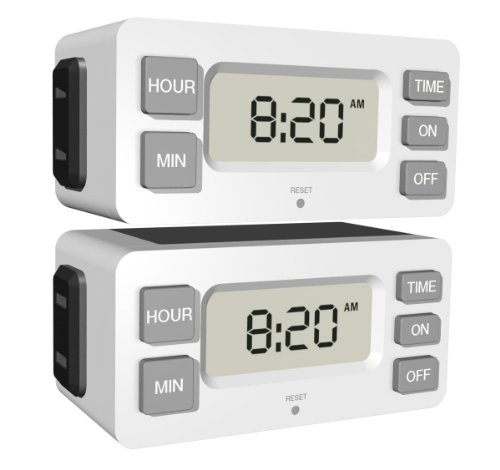 (Stanley 38425 TimerMax Digislim Polarized 1-Outlet Digital Bar Timer, 2-Pack)