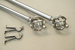 Modern Twist Curtain Rod and Hardware Set Size: 120\