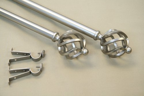 Modern Twist Curtain Rod and Hardware Set Size: 120