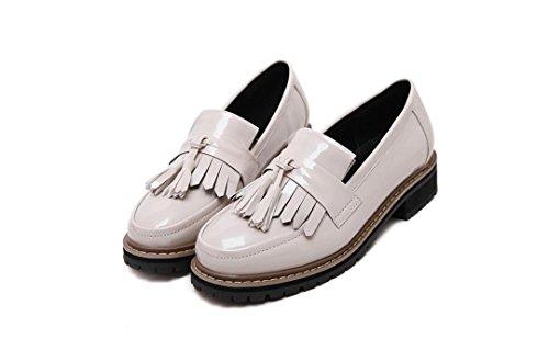 Dunk Heel punta nappe white basso LvYuan chiusa Casual da preppy Oxfords Outdoor Stile donna comodo Scarpe rotonda punta xwvgqgCY0