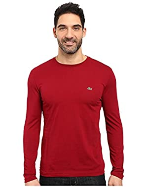 Men's Long Sleeve Pima Jersey Crew Neck Tee Shirt