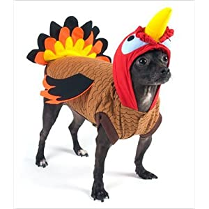 """Turkey Deluxe Thanksgiving/Halloween Costume for Dogs by Puppe Love (Size 6 (16"""" l x 20.5"""" - 23.25"""" g))"""