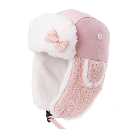 Ladies wool cap of Lei Feng/ Winter ski Hat/Thick warm in autumn and winter helmet/ aircraft hat-Pink One Size