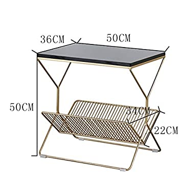 Amazon.com: Shelves ZR- Sofa Side Table/Corner Gold Wrought ...