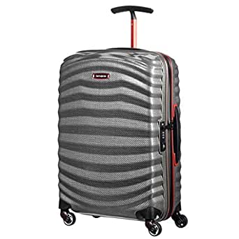Samsonite Hardside Suitcase, 55 Centimeters, Eclipse Grey/red