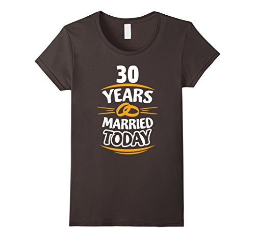 Womens Gift for 30th Wedding Anniversary of Parents T-Shirt Small Asphalt (Gifts For Parents 30th Anniversary)