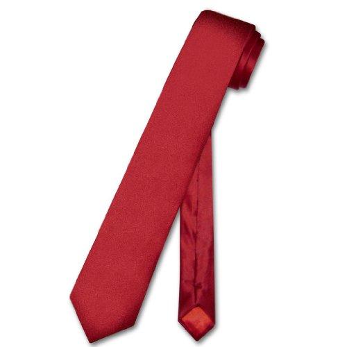 Biagio 100% SILK Narrow NeckTie Skinny DARK RED Color Men's 2.5