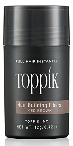 TOPPIK Hair Building Fibers, Medium Brown, 0.42 oz.