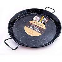 Garcima 13 1/2-inch Pata Negra Restaurant Grade Paella Pan, 34cm (Medium Induction Hobs)