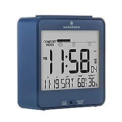 Marathon CL030054BL Atomic Desk Clock, With Backlight, Heat & Comfort Index - Batteries Included