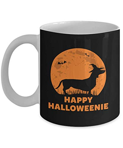 Happy Halloweenie Dog Halloween Dachshund Gift Gift Coffee Mugs ()
