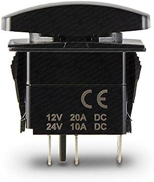 Blue LED CH4x4 Rocker Switch Rear Locker Symbol