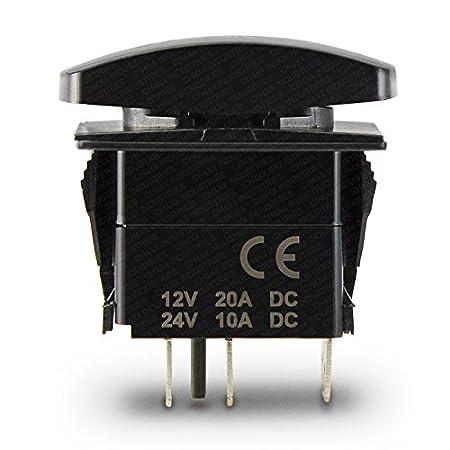 CH4X4 Marine Rocker Switch V2 Aux Battery Symbol