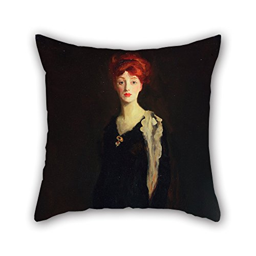 Uloveme 16 X 16 Inches / 40 By 40 Cm Oil Painting Robert Henri - Lady In Black With Spanish Scarf (O In Black With A Scarf) Pillow Covers ,two Sides Ornament And Gift To (Hello Sexy In Spanish)