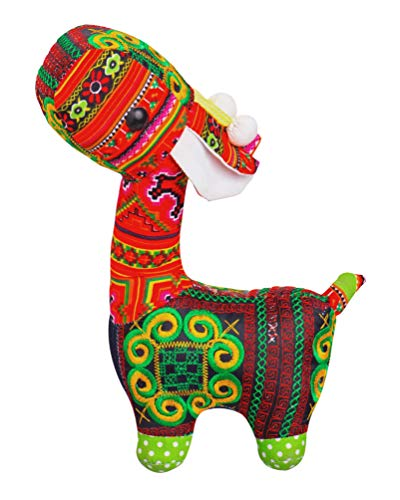 Milotus Handmade Stuffed Giraffe, Home Decor Lucky Giraffe, Cute Giraffe Plush Toy, Cushion Animal Doll Toy for Kids, Doll Toy Collection, Gifts for Holidays, 8.3 inches