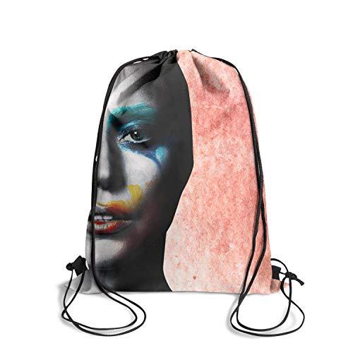 Brookefghgsh Drawstring Backpack Sports Pattern Workout Bag Sack Bag Drawstring Bag