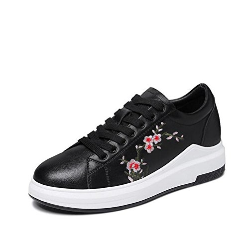 la 40 Las de Mujeres Zapatos Primavera de Zapatillas tamaño Ocasionales de la de de PU Color Deporte Negro la de Primavera los 1txxqvwg7