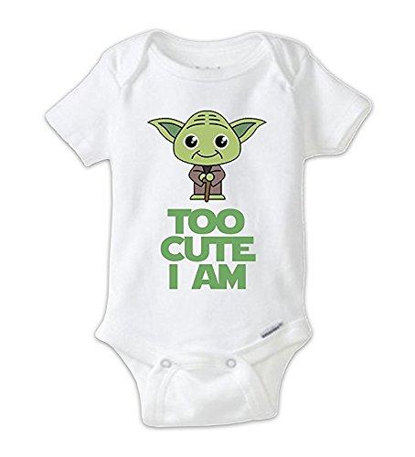 STAR WARS Cute Yoda Baby Onesie, Baby Bodysuit, Yoda Onesie, Star Wars Onesie, Star Wars Shirts, Funny Shirts, Cute Shirts, Baby Shower Gift (3-6 Months)
