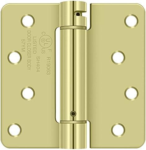 THERMA-TRU HEAVY QUALITY DOOR HINGES-BRASS-4 HOLE-SET OF 2 W SCREWS