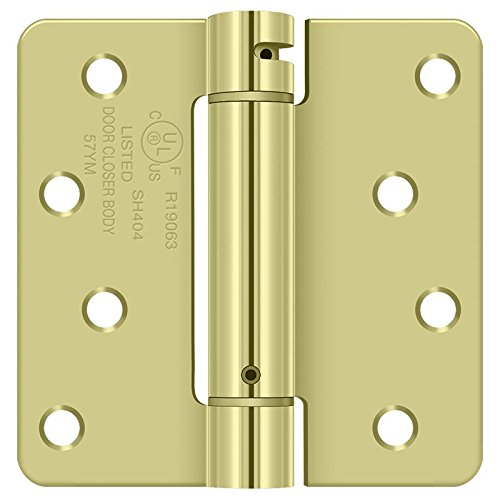 Deltana DSH4R42D Single Action Steel 4-Inch x 4-Inch x 1//4-Inch Spring Hinge