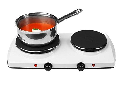 MEDION (MD 16518) Doppel-Kochplatte, 1500Watt, 1000 Watt, Temperaturkontrolle, weiß