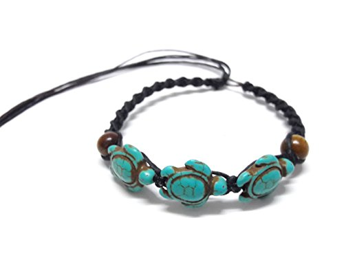 tiger-eye-stone-beads-turtle-hemp-bracelet-or-anklet-sea-turtle-in-turquoise-color-adjustable-cord