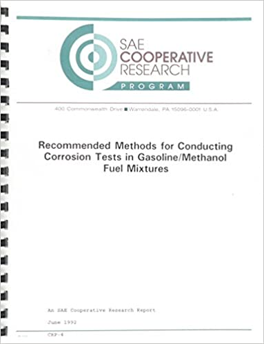 Télécharger des livres google books ubuntu Recommended Methods for Conducting Corrosion Tests in Gasoline/Methanol Fuel Mixtures (Sae Cooperative Research Program, No 4) in French