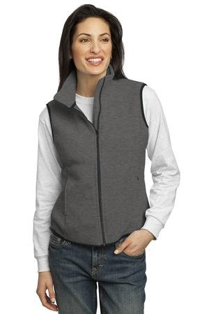 Port Authority Ladies R-Tek Fleece Vest, Large, Midnight Heather